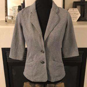 Lucky Brand Size Small Grey Cotton Blazer Jacket